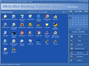 All in one desktop calendar software screenshots for Computer planner software